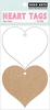 Heart - Hero Arts Tags 7.23 X3.5  20/Pkg Show your valentine some love with these die-cut heart tags. Designed for stamping. This package contains ten 3.25x3 inch white heart tags and ten 3.25x3 inch kraft heart tags. Acid free. Imported.
