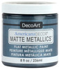 Pewter - Americana Decor Matte Metallics 8oz Americana Decor Matte Metallic paint will add a classic, matte metallic sheen to furniture and home decor projects. Cures to a hard, smooth finish in 1 to 2 weeks. Perfect for subtle accenting or full coverage application. This package contains 8oz of matte metallic finish. Conforms to ASTM D4236. Comes in a variety of colors. Each sold separately. Made in USA.