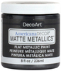 Charcoal - Americana Decor Matte Metallics 8oz Americana Decor Matte Metallic paint will add a classic, matte metallic sheen to furniture and home decor projects. Cures to a hard, smooth finish in 1 to 2 weeks. Perfect for subtle accenting or full coverage application. This package contains 8oz of matte metallic finish. Conforms to ASTM D4236. Comes in a variety of colors. Each sold separately. Made in USA.