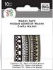 Black & White - Happy Planner Mini Washi Tape 3mmx6.56yd Each 10/Pkg