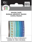 Blue Hues - Happy Planner Mini Washi Tape 3mmx6.56yd Each 10/Pkg