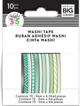 Green Hues - Happy Planner Mini Washi Tape 3mmx6.56yd Each 10/Pkg