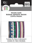 Jewel Tones - Happy Planner Mini Washi Tape 3mmx6.56yd Each 10/Pkg