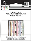 Pastel - Happy Planner Mini Washi Tape 3mmx6.56yd Each 10/Pkg