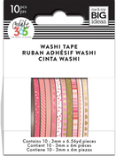 Pink Hues - Happy Planner Mini Washi Tape 3mmx6.56yd Each 10/Pkg