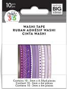 Purple Hues - Happy Planner Mini Washi Tape 3mmx6.56yd Each 10/Pkg