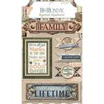 Layered Chipboard Stickers - Once Upon a Lifetime - Bo Bunny - PRE ORDER