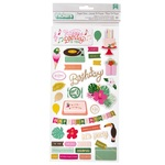 Confetti Wishes Icon Thickers - Pink Paislee