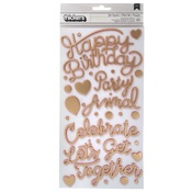 Confetti Wishes Phrase Thickers - Pink Paislee