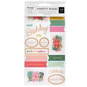 Confetti Wishes Matte Gold Foil Sticker Book - Pink Paislee