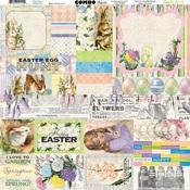 Cottontail Combo Sticker Sheet - Bo Bunny - PRE ORDER