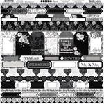 Black Tie Affair Combo Sticker Sheet - Bo Bunny