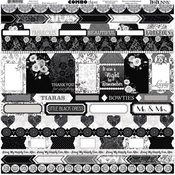 Black Tie Affair Combo Sticker Sheet - Bo Bunny
