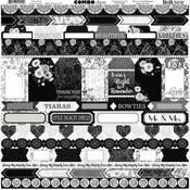 Black Tie Affair Combo Sticker Sheet - Bo Bunny - PRE ORDER
