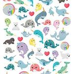 Narwhals - Paper House Life Organized Micro Stickers