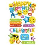 Emoji Birthday - Paper House 3D Stickers