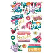 Daughter - Paper House 3D Stickers