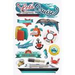 Let's Cruise - Paper House 3D Stickers