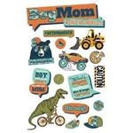 Boy Mom - Paper House 3D Stickers