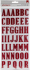 Red Glitter Thickers - Stickers & Bling - American Crafts