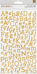 Gold Mixed Glitter Alpha Stickers - Stickers & Bling - American Crafts