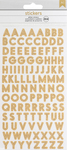 Gold Glitter Small Alpha Stickers - Stickers & Bling - American Crafts