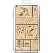 Mermaids Jane Davenport Stamp Tin Set