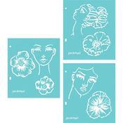Flower Girl Jane Davenport Stencils