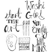 Crafty Minx Jane Davenport Clear Stamps - PRE ORDER