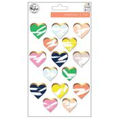 Hearts Foiled Die-cuts - The Mix No 2 - Pinkfresh