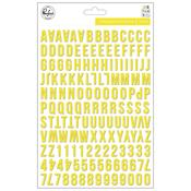 Yellow The Mix No 2 Puffy Alphabet Stickers - Pinkfresh