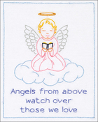 "Precious Angel - Jack Dempsey Stamped White Sampler 8""X10"""
