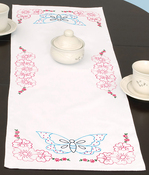 "Butterfly - Jack Dempsey Stamped Table Runner/Scarf 15""X42"""
