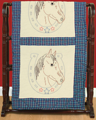 "Horseshoe - Jack Dempsey Stamped Ecru Quilt Blocks 18""X18"" 6/Pkg"