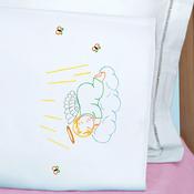 Precious Angel - Jack Dempsey Children's Stamped Pillowcase W/Perle Edge