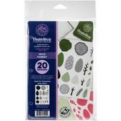 """Wild Forest - Crafter's Companion Threaders Rubber Stamp Set 5.5""""X8.25"""""""