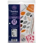 """Leaves Are Falling - Crafter's Companion Threaders Rubber Stamp Set 5.5""""X8.25"""""""