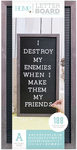 "Gray Stained W/Black Insert - DCWV Framed Letterboard 10""X20"""