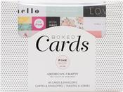 """C'est La Vie - Pink Paislee A2 Cards W/Envelopes (4.375""""X5.75"""") 40/Box"""