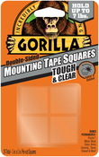 "Clear - Gorilla Double-Sided Mounting Tape Squares 1""X1"" 24/Pkg"
