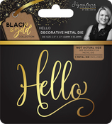Hello - Sara Davies Signature Black & Gold Metal Die