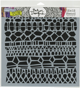 "Modern Lace - Crafter's Workshop Template 12""X12"""