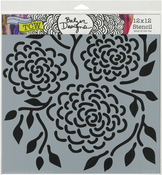 "Round Flowers - Crafter's Workshop Template 12""X12"""