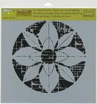 "Flower Grid - Crafter's Workshop Template 12""X12"""
