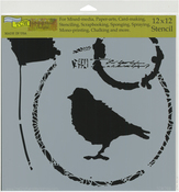 "Thoughtful Bird - Crafter's Workshop Template 12""X12"""