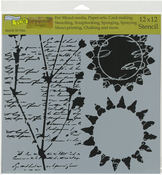 "Journal Musings - Crafter's Workshop Template 12""X12"""