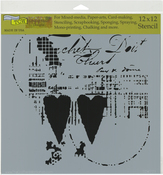 """Two Hearts - Crafter's Workshop Template 12""""X12"""""""
