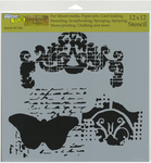 """Regal Butterfly - Crafter's Workshop Template 12""""X12"""""""