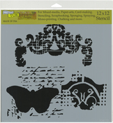 "Regal Butterfly - Crafter's Workshop Template 12""X12"""