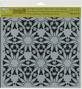 "Tuscan Floral - Crafter's Workshop Template 12""X12"""